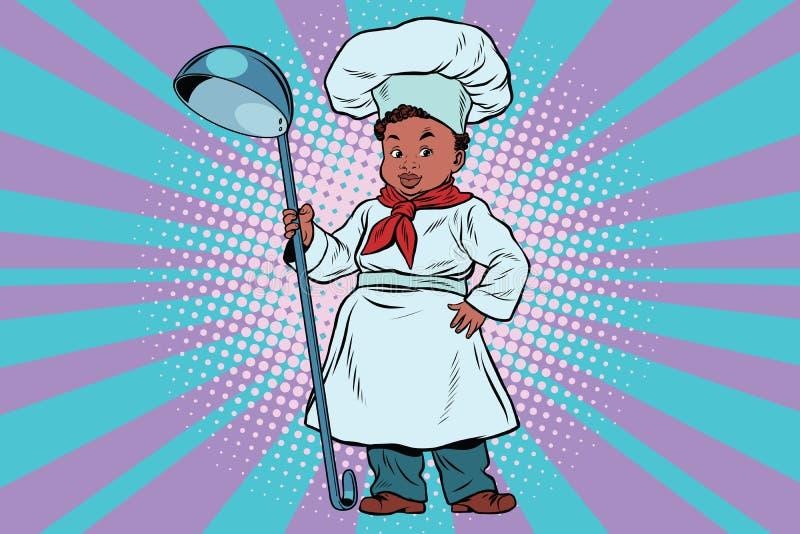 Chłopiec kucharz royalty ilustracja