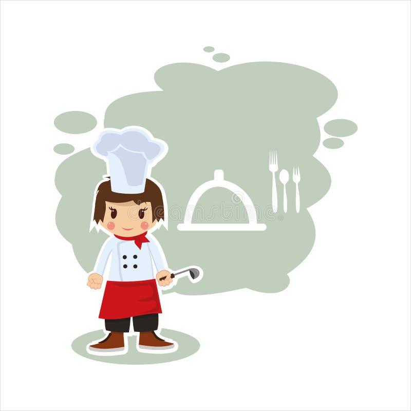 Chłopiec kucharz w wektorowym formacie ilustracja wektor