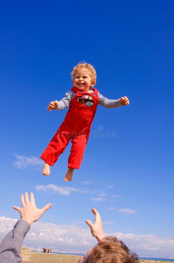 chłopiec latanie obrazy royalty free