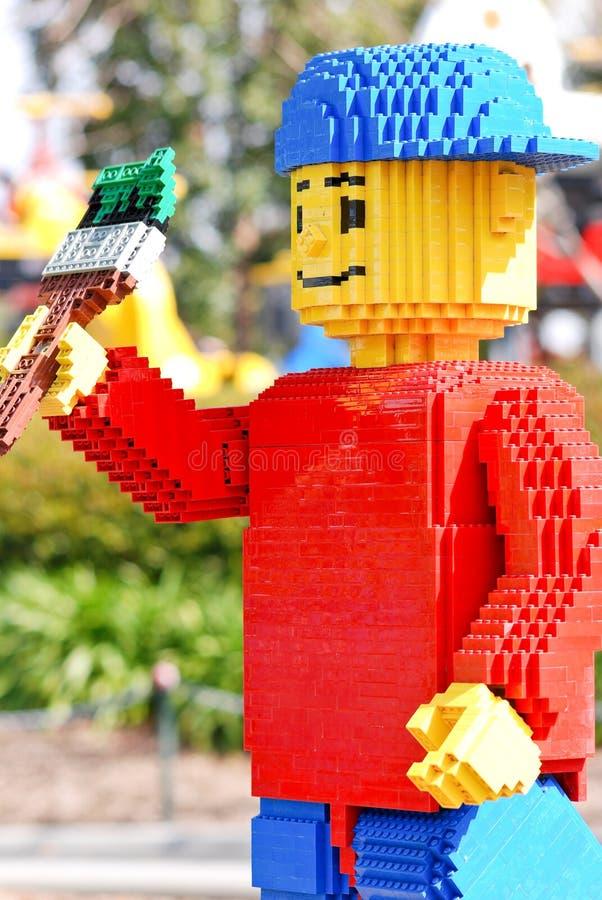 chłopiec lego legoland malarz zdjęcie royalty free