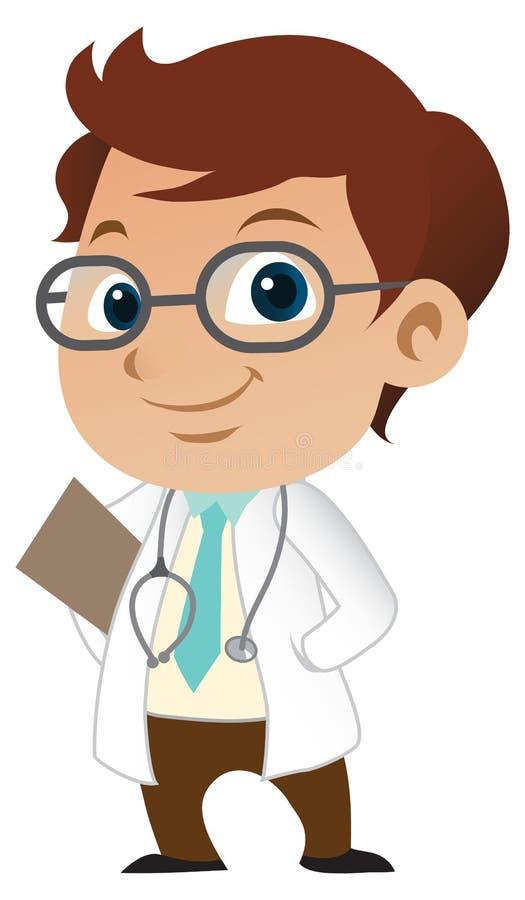 chłopiec lekarka ilustracji