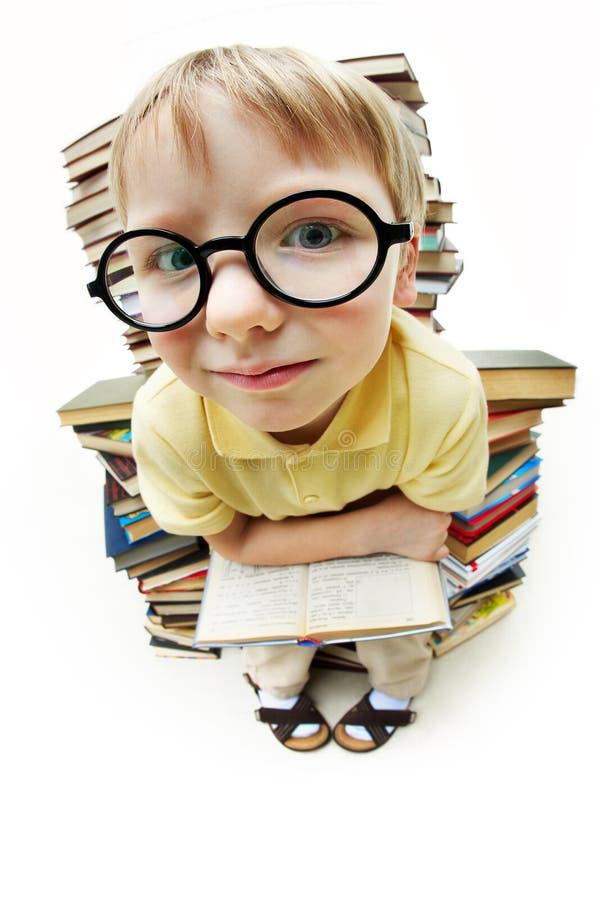 chłopiec mądra obrazy stock
