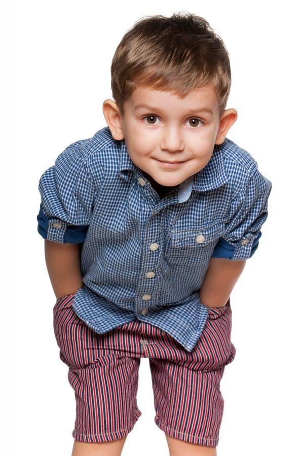 chłopiec mały śliczny obraz stock
