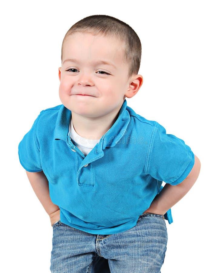 chłopiec mały śmieszny fotografia stock