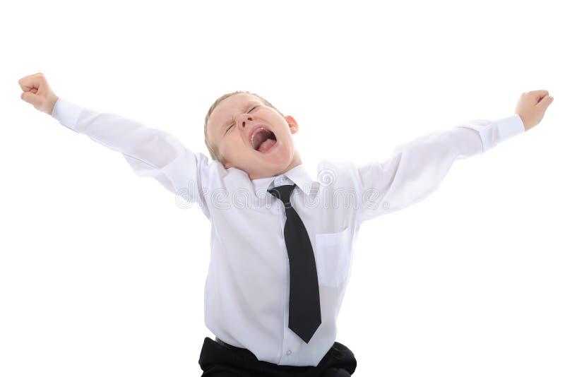 chłopiec mały frontowy żadni zęby zdjęcia royalty free