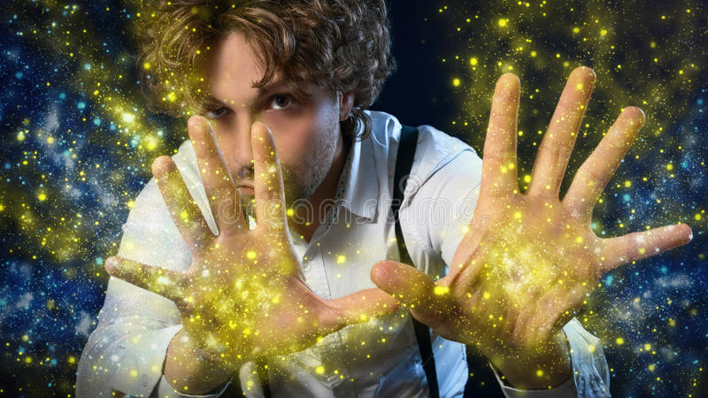 Chłopiec magik fotografia royalty free