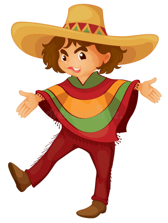 chłopiec meksykanin royalty ilustracja