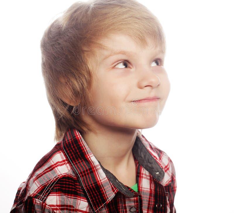 chłopiec nad białym tłem zdjęcia royalty free