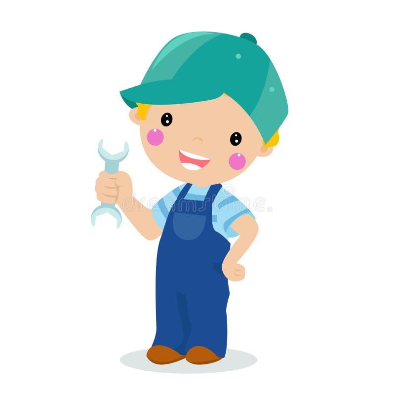 chłopiec narzędzie ilustracji