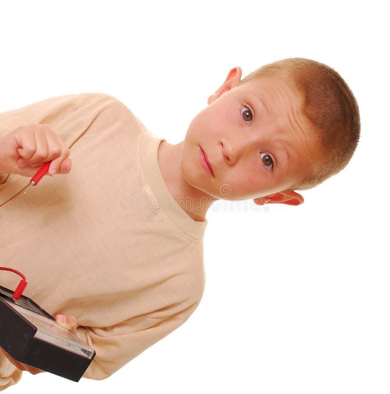 chłopiec naukowiec obraz stock