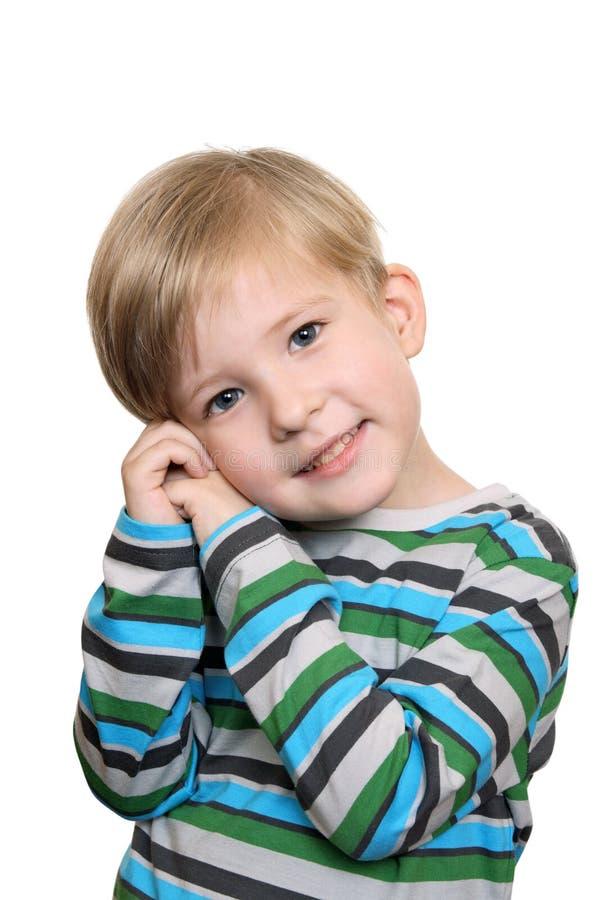 chłopiec nieśmiała zdjęcie royalty free