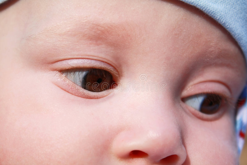 chłopiec oczy obraz stock