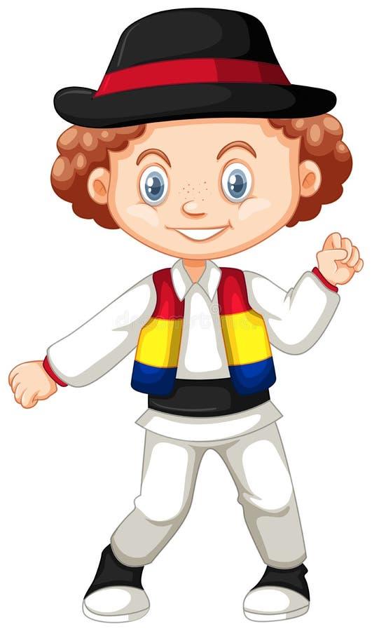 Chłopiec od Rumunia royalty ilustracja