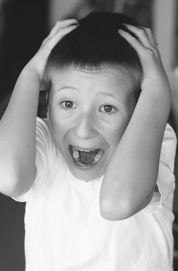 chłopiec okaleczający potomstwa fotografia stock