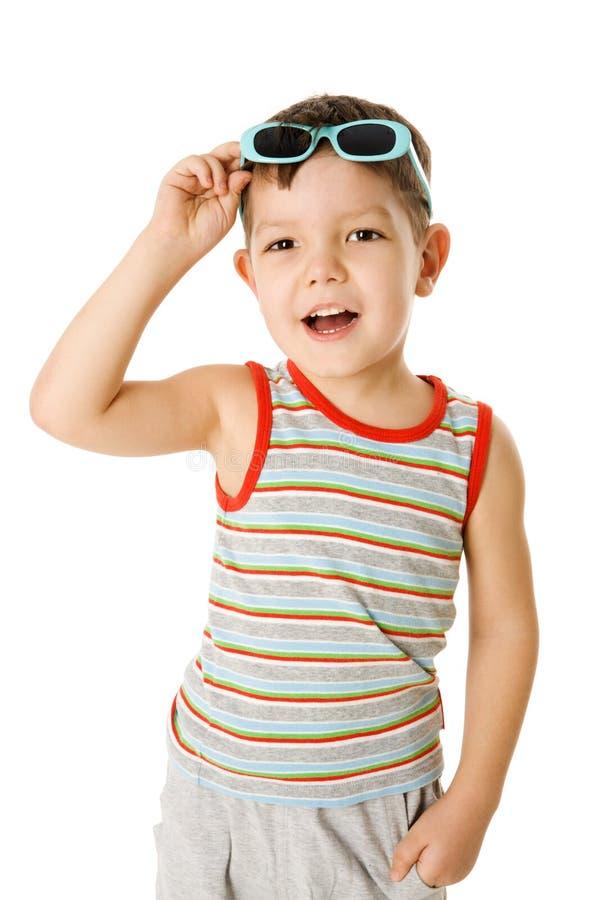 chłopiec okularów przeciwsłoneczne target291_0_ obrazy stock