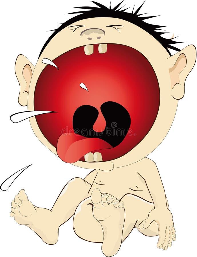 chłopiec płacz ilustracji
