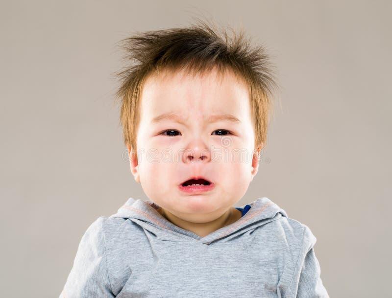 Chłopiec płacz zdjęcia royalty free