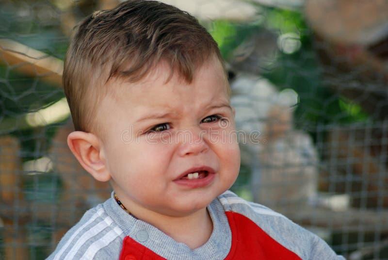 chłopiec płacz fotografia stock