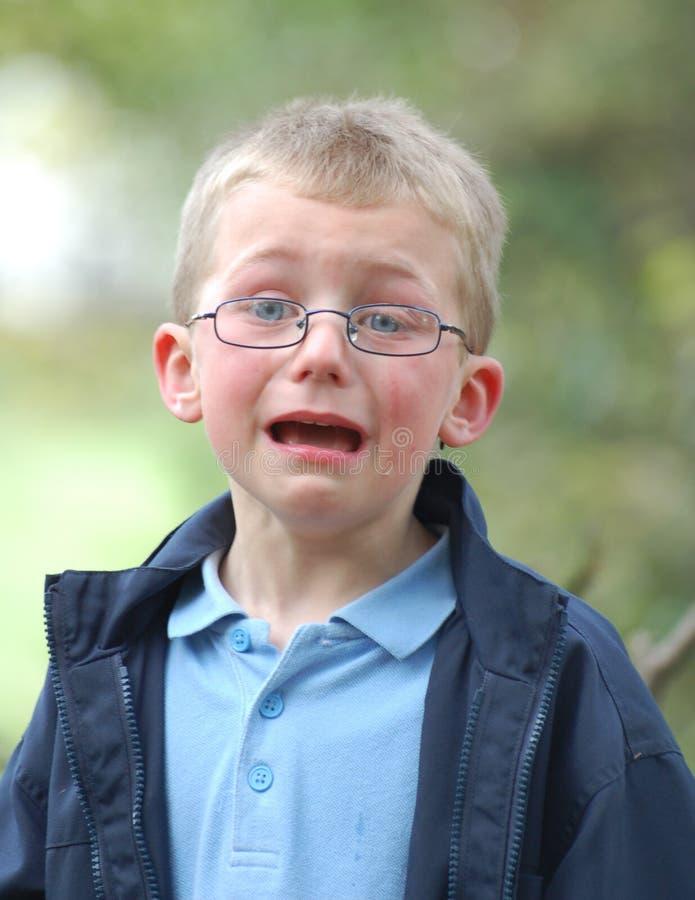chłopiec płacze fotografia stock