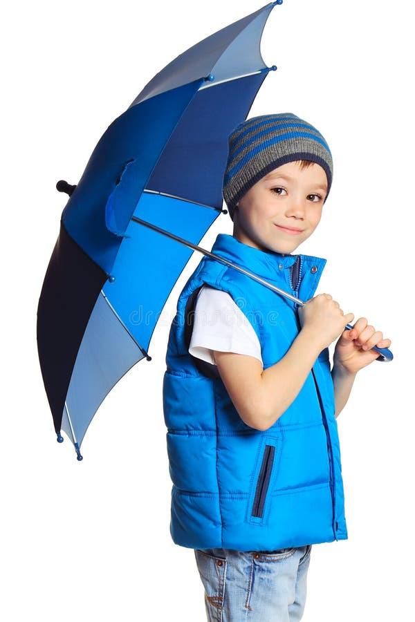 chłopiec parasol zdjęcia stock