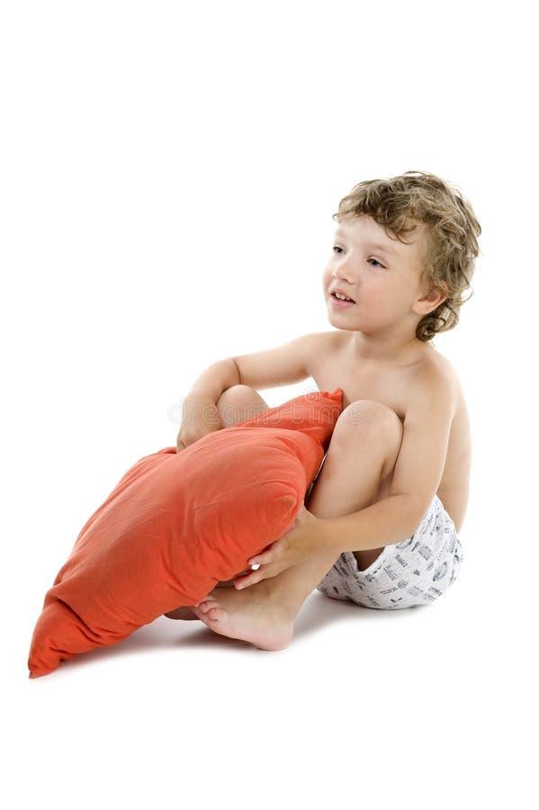 chłopiec poduszka obraz royalty free