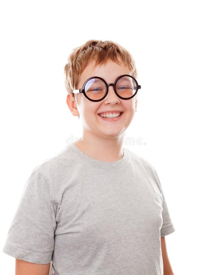 Chłopiec portret zamknięty zdjęcie royalty free