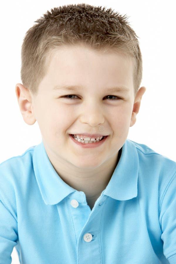 chłopiec portreta uśmiechnięci potomstwa obraz royalty free
