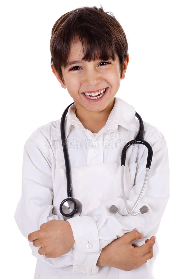 chłopiec potomstwa doktorscy mali zdjęcia stock