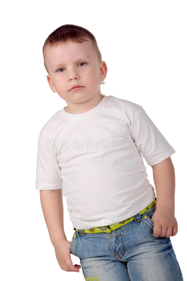 chłopiec poważna zdjęcia royalty free