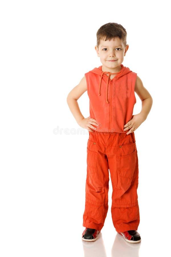 chłopiec pozycja fotografia royalty free