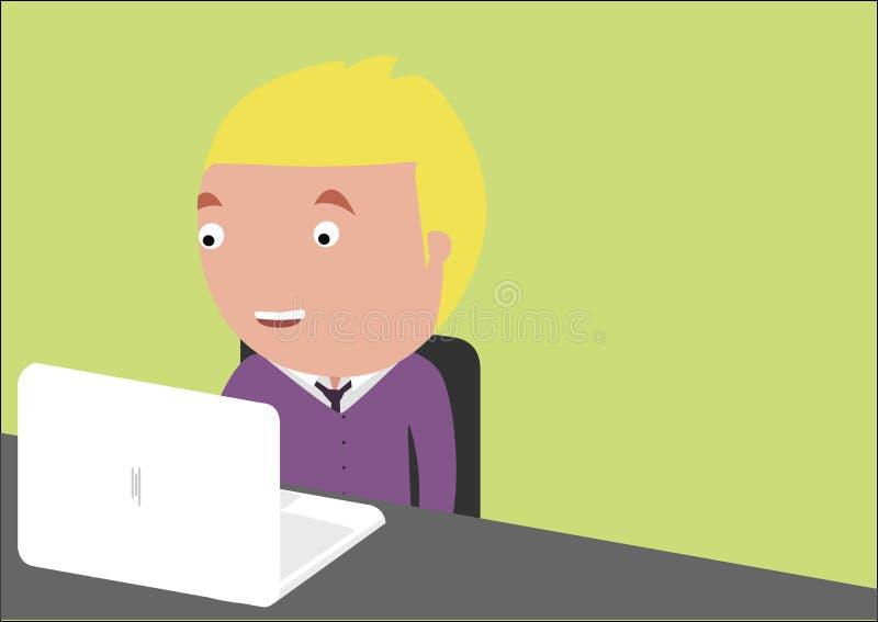 Chłopiec pracuje przy komputerem zdjęcia royalty free