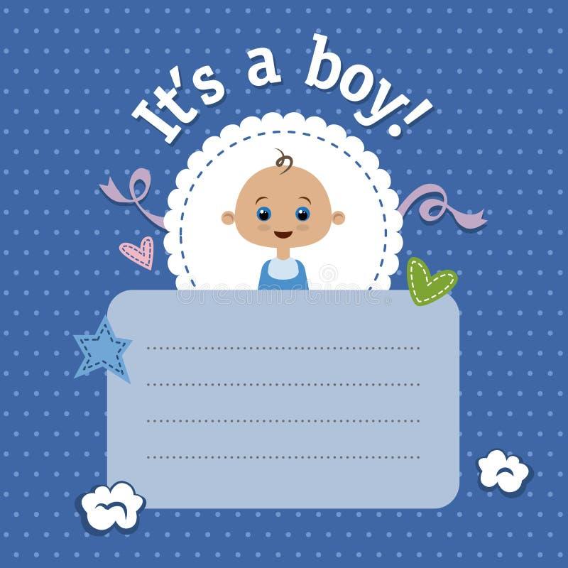 chłopiec prysznic ilustracja wektor