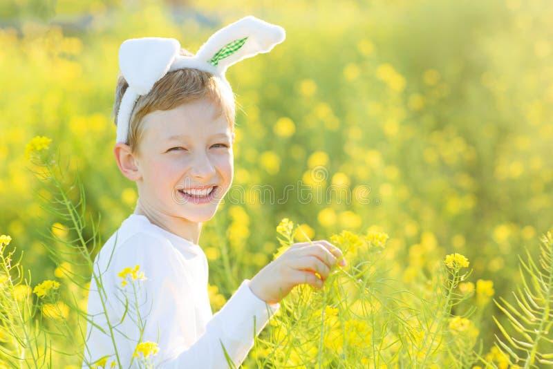 Chłopiec przy Easter czasem fotografia royalty free