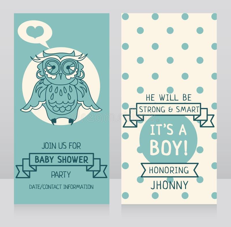 Chłopiec przyjazdowe karty ilustracji