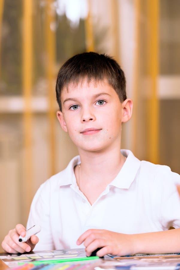 Chłopiec przystojny Młody Portret obraz royalty free
