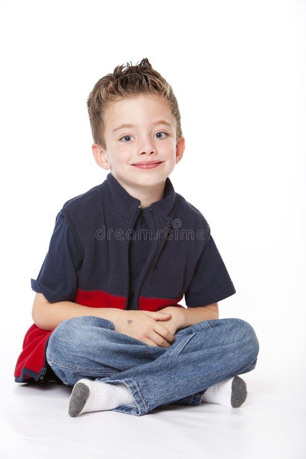 chłopiec przystojny portreta studio zdjęcia royalty free