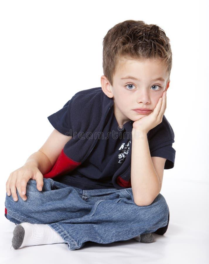 chłopiec przystojny portreta studio zdjęcia stock