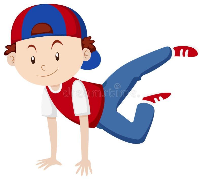 Chłopiec robi breakdance royalty ilustracja