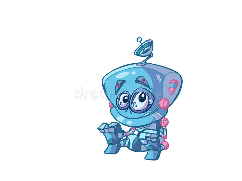 chłopiec robot royalty ilustracja