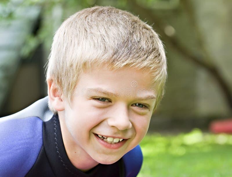 chłopiec rok stary uśmiechnięty osiem zdjęcia stock