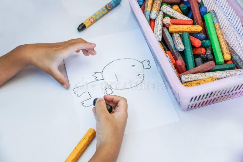 Chłopiec rysunkowa kreskówka zdjęcie royalty free
