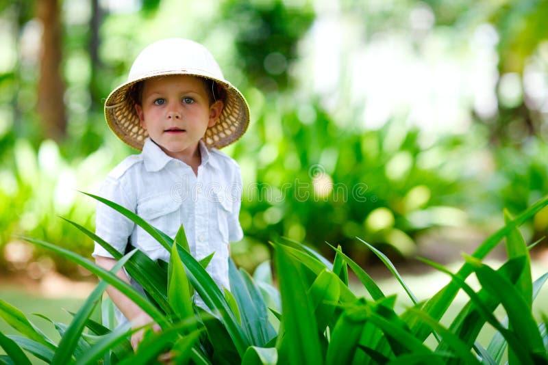 chłopiec safari obrazy royalty free