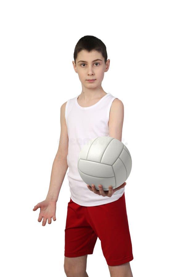 Chłopiec siatkówki gracz obrazy stock