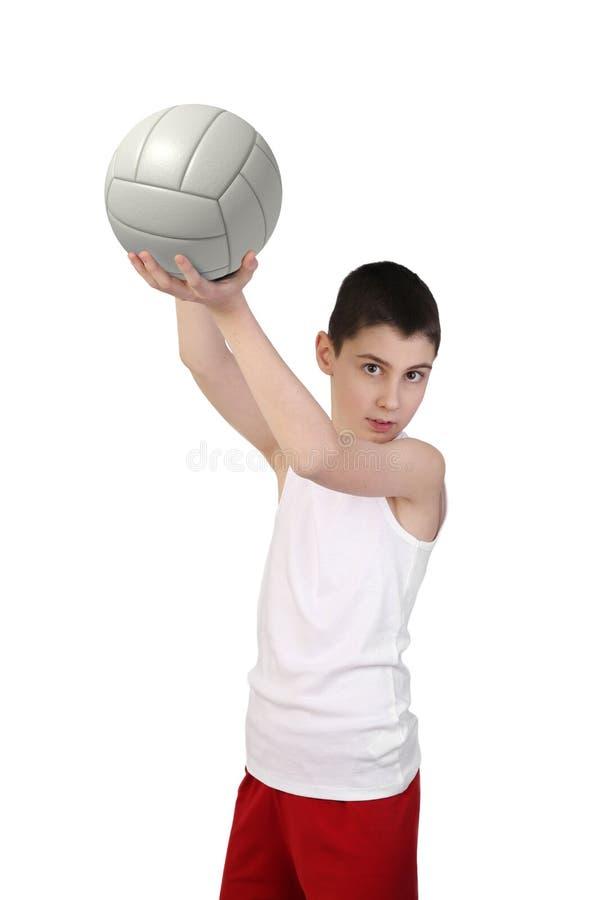 Chłopiec siatkówki gracz fotografia stock