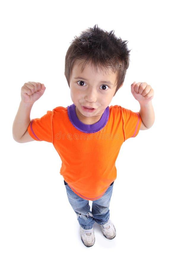 chłopiec silny szczęśliwy mały fotografia royalty free