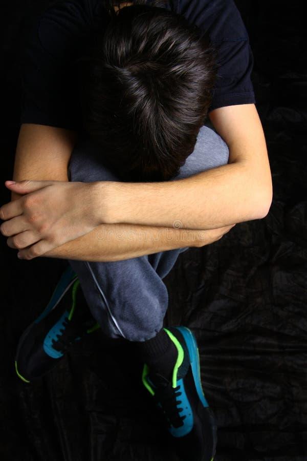 chłopiec smutna obrazy royalty free