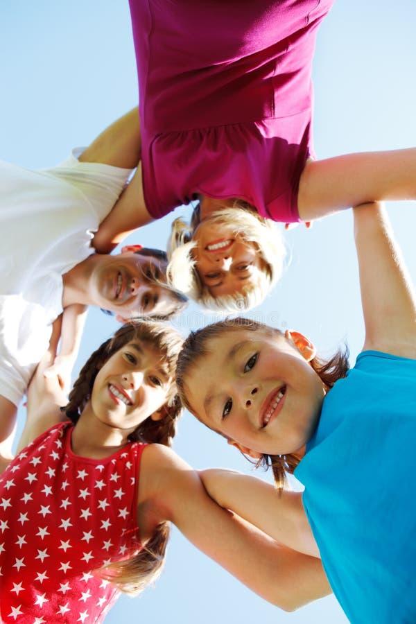 chłopiec starzejąca się rodzina szkoła zdjęcia stock