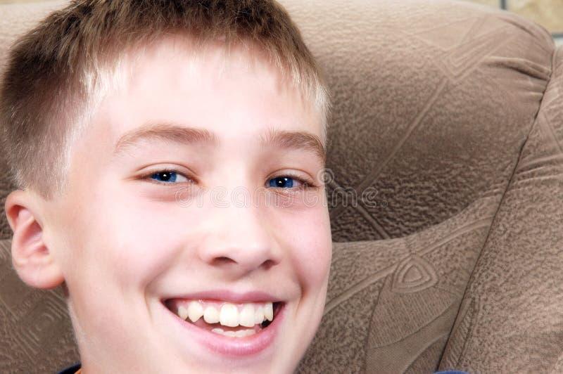 chłopiec szczęśliwy portret zdjęcia stock