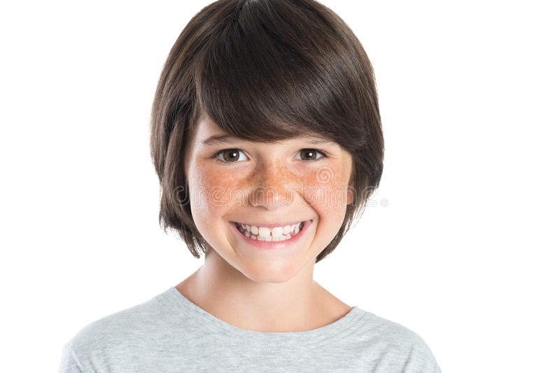 chłopiec szczęśliwy uśmiech zdjęcie royalty free