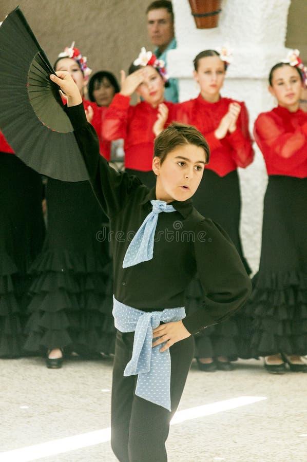 Chłopiec tanczy Sevillanas zdjęcie royalty free